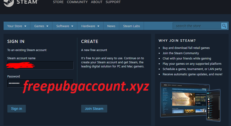 Free Steam Account Username and Password 2020